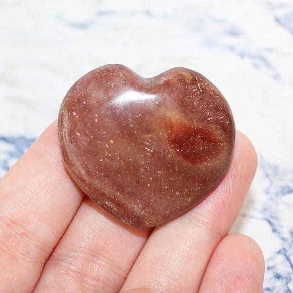 Polychrome Jasper Crystal Heart Carved Crystal Jasper Heart