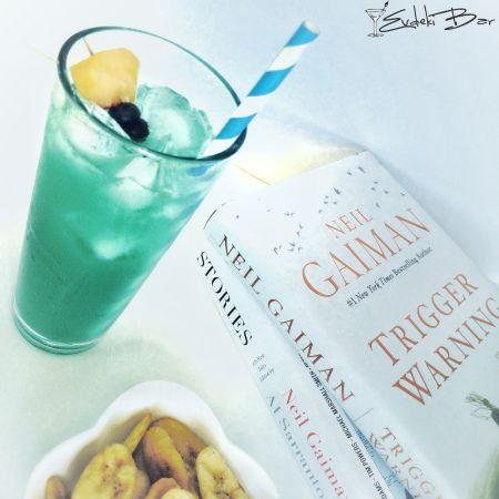 Peachy Margarita tekila, Monin Blue Curaçao şurubu, Archers, sweet and sour karışımı, misket limon suyu, portakal suyu #cocktail #kokteyl #peachymargarita #margarita #green #delicious #peach #tasty #lezzetli #booze #drink #tequila #tekila #tarif