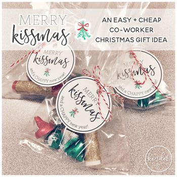 This is the gift tag I made to go with my co-worker gifts this year!I put a lip balm wrapped in glitter tape and some chocolate kisses in a cellophane bag and added this tag to make this easy and cheap christmas themed gift <3I hope you enjoy using this gift tag!