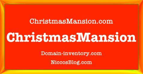 Domain ChristmasMansion.com is available at flippa.