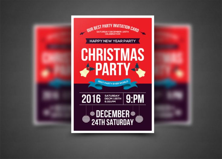 15+ Christmas Party Invitation Flyer Templates  Flyer Samples For An Event