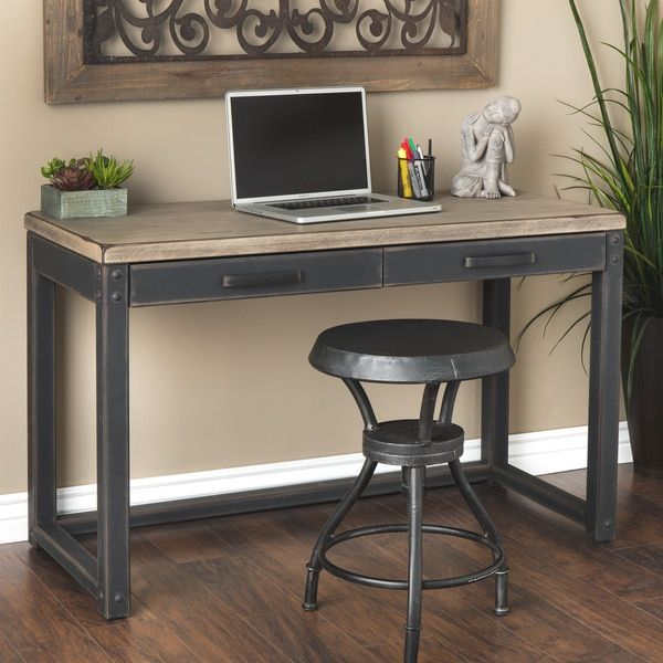 Sturdy And Handsome This Weathered Writing Desk Is An Excellent Place For Any Writer Living Room