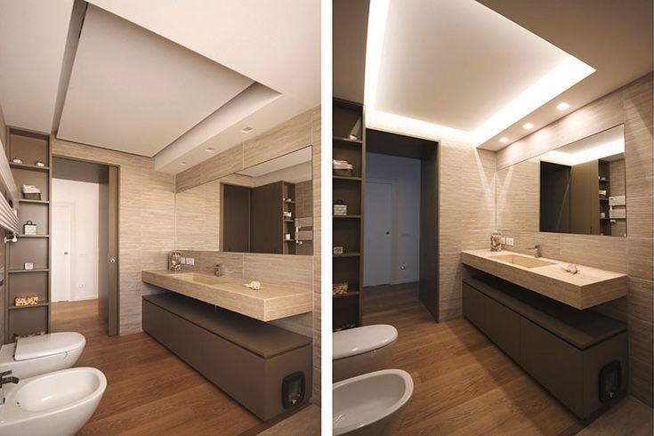 Pi di 25 fantastiche idee su arredamento del lavandino - Controsoffitto bagno ...