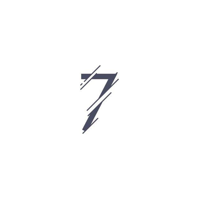 Number 7 Vector Template Design Illustration Number Icons Template Icons Number Png And Vector With Transparent Background For Free Download 7 Tattoo Number Icons Graphic Design Logo