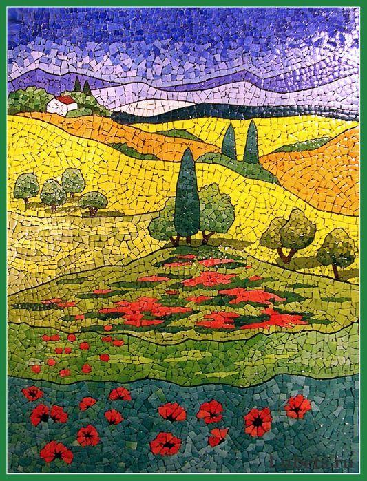 Картинка из яичной скорлупы для рисования