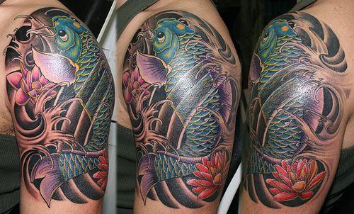 Japanise koi fish tattoo www.dovmemalzemesi.net