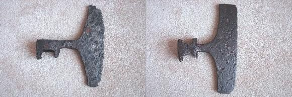 Axes - 13th - 14th century, archeological find, location unknown.