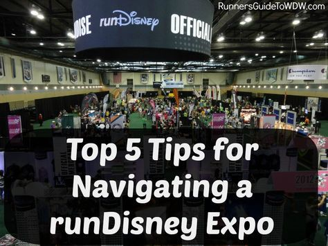 The runDisney Health  Fitness Expo is a runner's paradise! Here are our top 5 tips to navigate the fun! http://www.runnersguidetowdw.com/top-5-tips-navigating-rundisney-expo/
