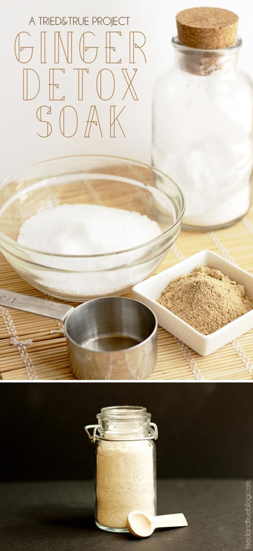Ginger Detox Soak | 12 DIY Detox Baths