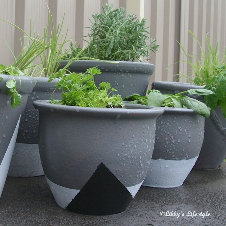 Painted pots DIY. Prepare yourself for pot envy extraodinaire.