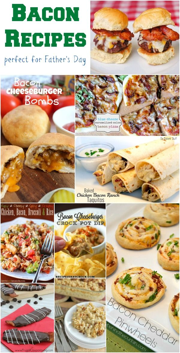 Bacon #Recipes perfect for #FathersDay http://www.momsandmunchkins.ca/2014/05/21/bacon-recipes/