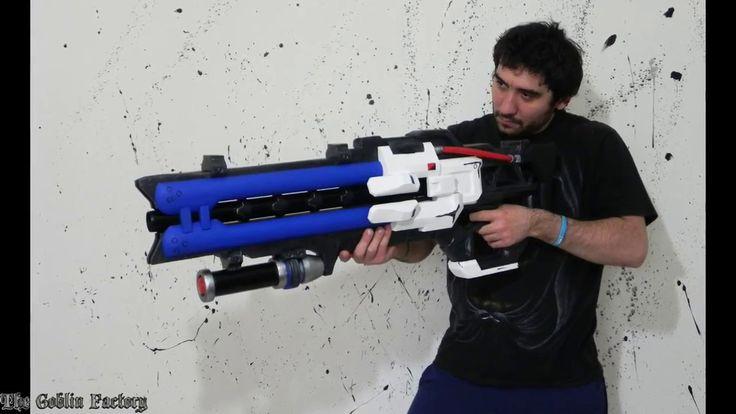 Soldier: 76 heavy pulse rifle Overwatch cosplay prop