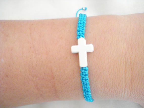 White cross bracelets Μartyrika Boy baptism favors Baby by Poppyg