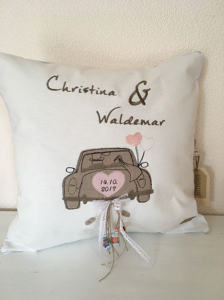 Kissen - Kissen individualisierbar Hochzeit - ein Designerstück von Ira-Irene bei DaWanda