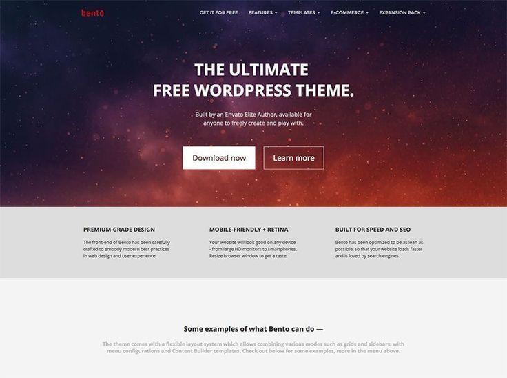 Plantilla WordPress gratuita para empresas, blogs y portafolios - Bento
