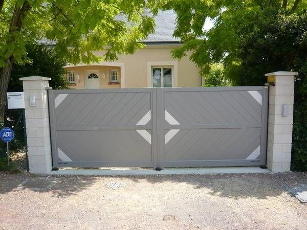 25 best ideas about portail aluminium battant on pinterest rail pour portail coulissant Portail aluminium battant