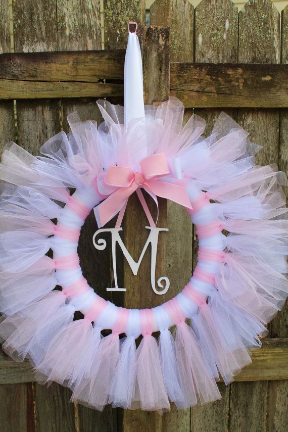 Pink and White Tulle Tutu Ballerina Princess di KraftinMommy