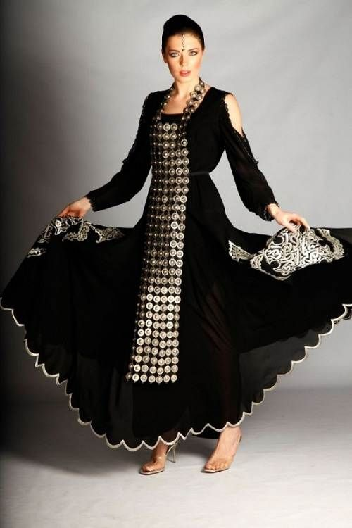 Modern Arabic Dresses Black