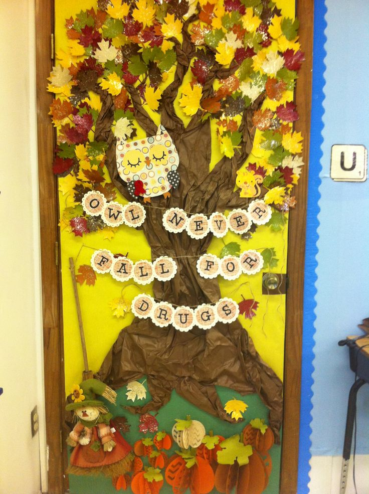 Red Classroom Decor ~ Red ribbon week door contest quot owl never fall for drugs