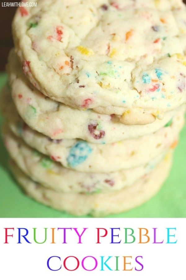 Fruity pebble pudding cookies, perfect for St. Patrick's Day. They're as tasty as they are fun to make!