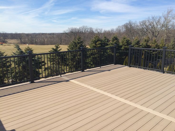 Open porch with timber tech deck above tt terrain sandy Terrain decking