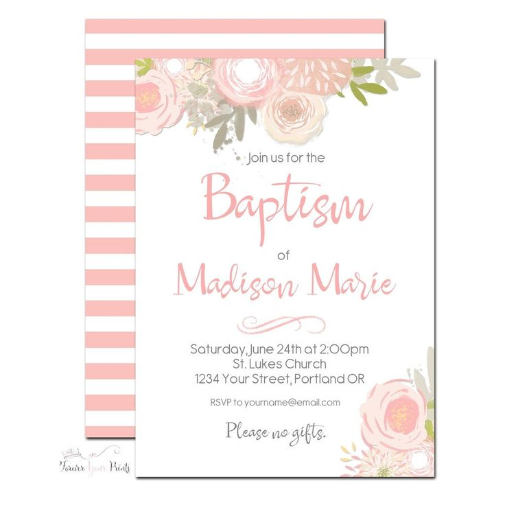 25+ beste ideeën over Baptism invitations girl op Pinterest ...