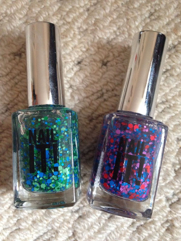 2 Nail It! (From Sportsgirl Australia) matte glitters   Galaxy, Sprinkles   used once £2 each