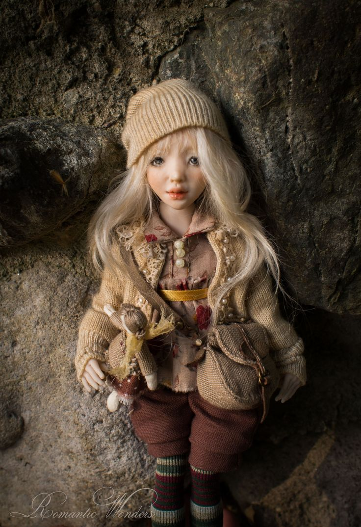 Kassie. Handmade BJD polymer clay doll by Romantic Wonders