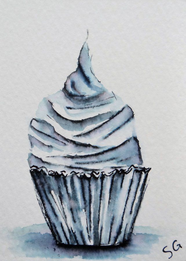 Cupcake Art Card ACEO  £3.00 #folksygifts