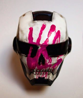 Luusama Motorcycle And Helmet Blog News: 610 Masei IRON-MAN Mask DOT Helmet in Evil Design