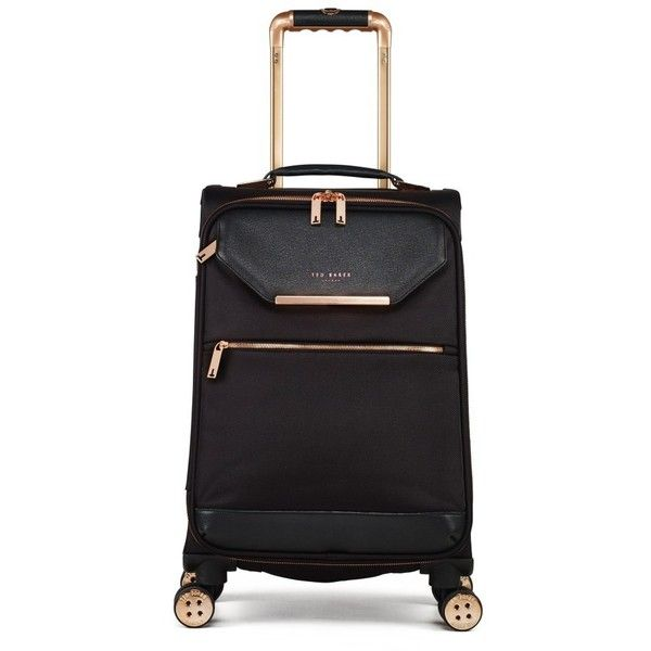 Women's Ted Baker London Trolley Packing Case ($345) ❤ liked on Polyvore featuring bags, luggage and black