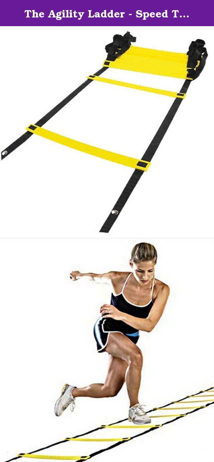 The Agility Ladder - Speed Training, Step Ladder - Football Cadence Training. Ships from HongKong.Function: enhance the flexibility of the body. Size: 4.8 m /9 festival. Color: dark red / yellow. Material: PP material / ribbon.