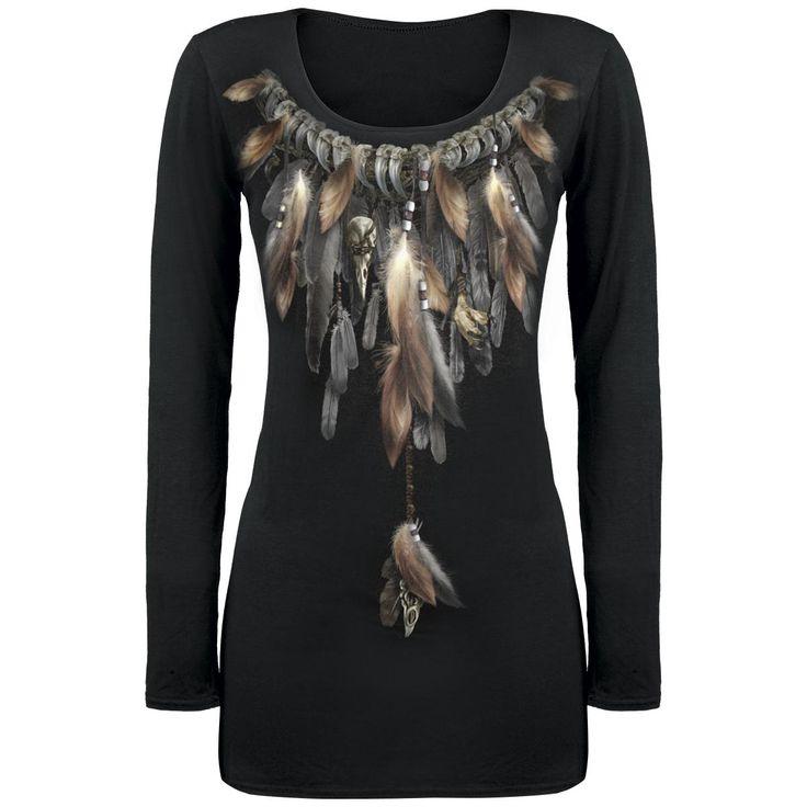 Native Spirit - Naisten pitkähihainen paita - Spiral - Tuotenumero: 248071 - alkaen 27,99 € - EMP.fi - naisten ja miesten vaatteet sekä bändipaidat ja musiikki netistä. xl