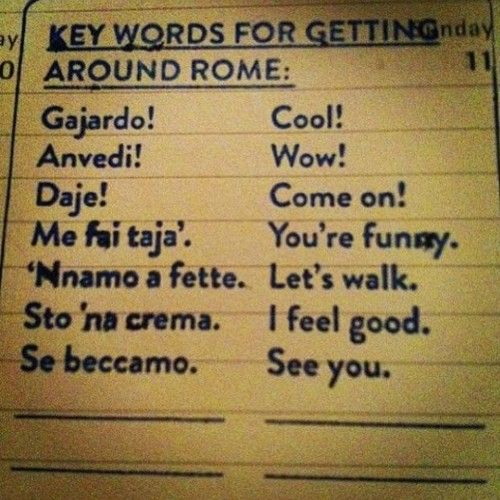 Some Roman dialect <3