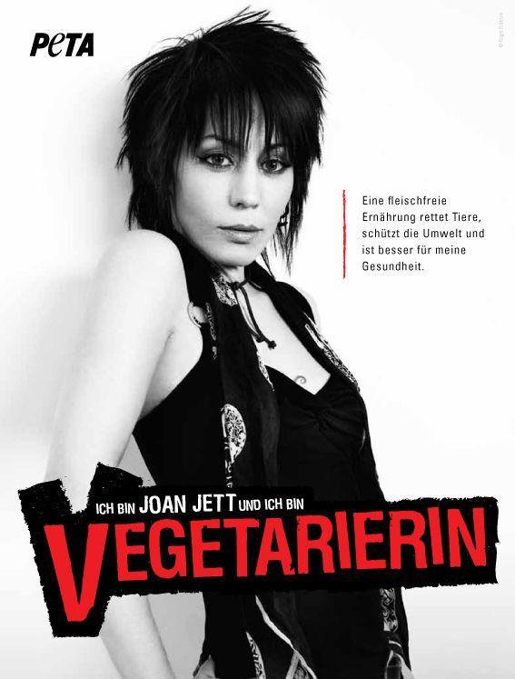 Joan Jett  Vegetarian PETA