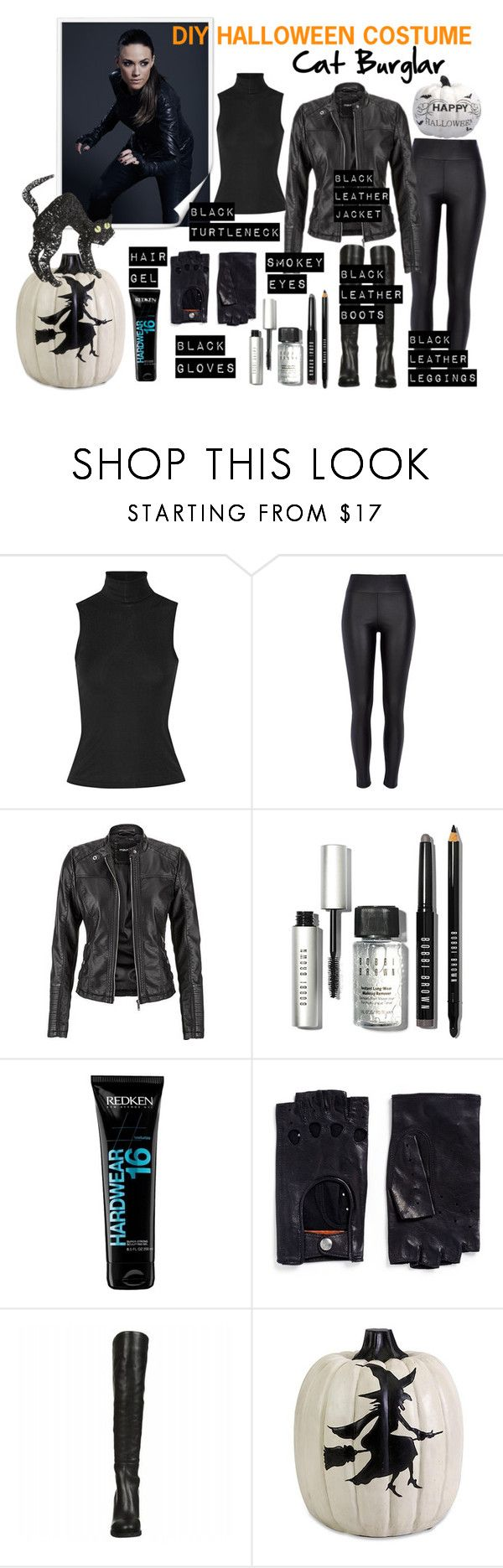 """""""Cat Burglar DIY Halloween Costume"""" by tanyabishop-icovetfashion on Polyvore featuring Theory, River Island, Redken, Georges Morand, Pier 1 Imports and diycostume"""