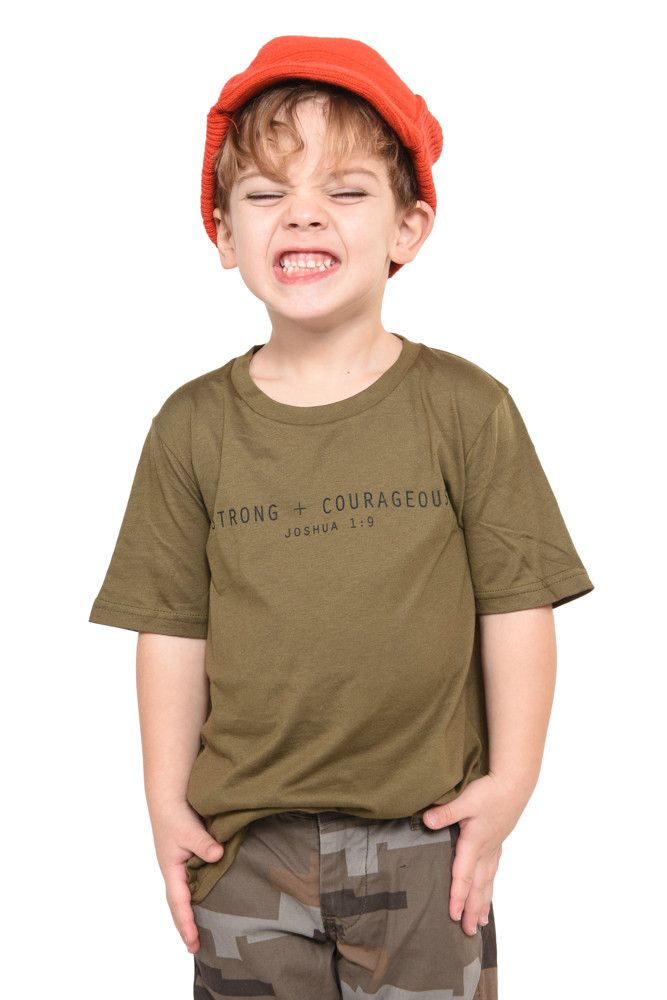 Strong + Courageous Short Sleeve Shirt- Youth