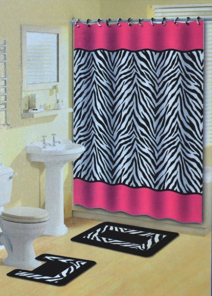 pink and black bathroom accessories. bathroom set 17 Pieces Zebra Ceramic Bathroom Set Shower Curtain Black white  Add this store to favorites Best 25 ideas on Pinterest decor