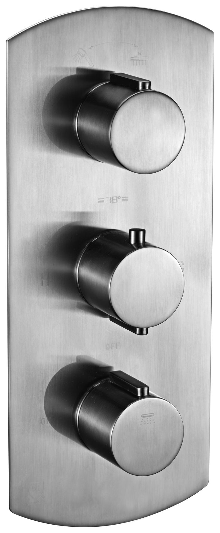 ALFI brand AB3901-BN Brushed Nickel Round 2 Way Thermostatic Shower Mixer