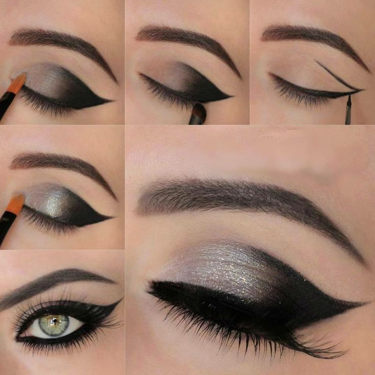 metallic grey winged smokey eyes tutorial so super pretty
