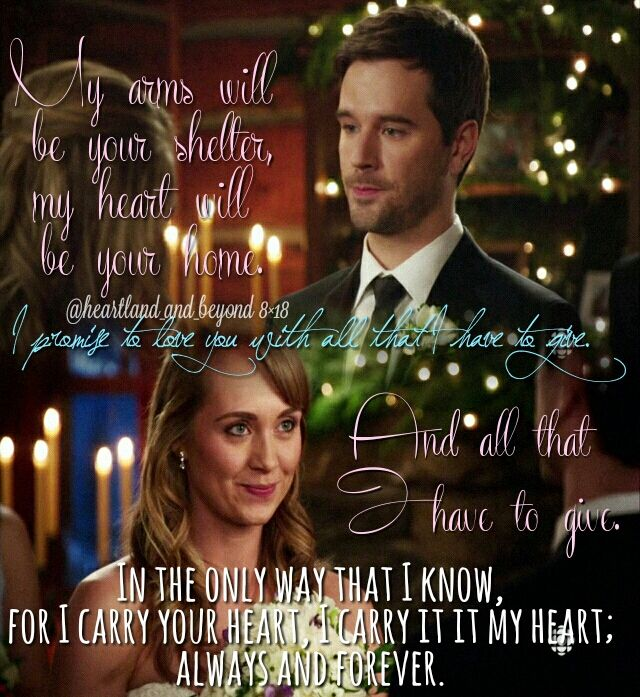 Heartland - Season 8 Episode 8 - Written in Stone//Tamyversary Amy and Ty got married one year ago today [in fans eyes (it's one year since 8x18 aired)], say what??
