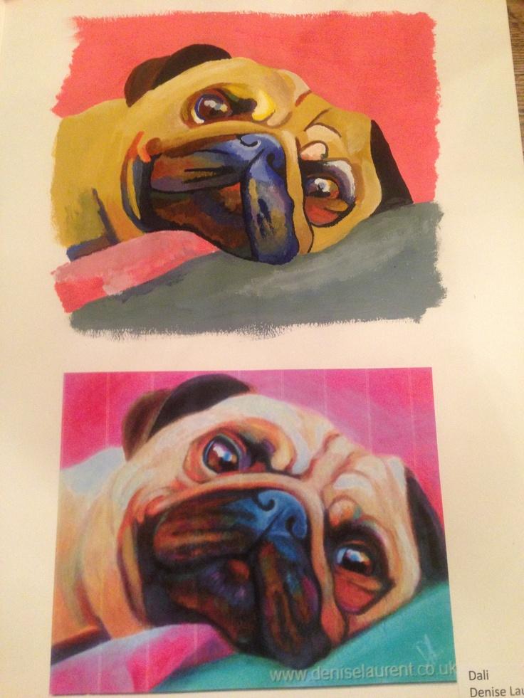 A copy of a pug