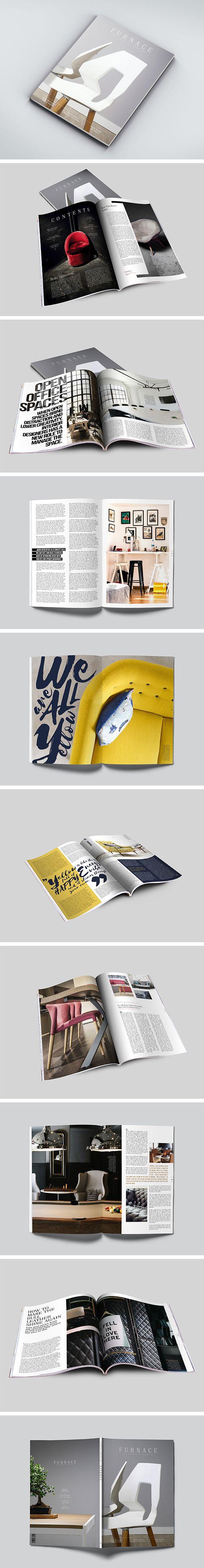 FURNACE: the furniture magazine - Layout Design by ZIIJN https://ziijn.myportfolio.com