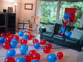 spiderman balloon game