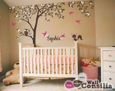 Baby Kinderzimmer Wandtattoo Baum Wall Decal von WallConsilia