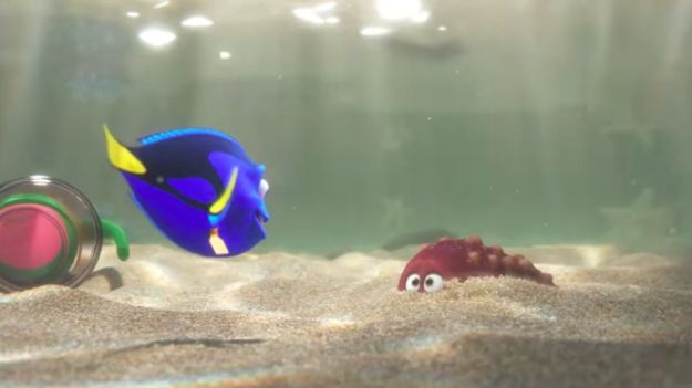 """Dory appears to be stuck in a fish tank at one point, just like Nemo was in Finding Nemo.   The Full Trailer For """"Finding Dory"""" Is Finally, Finally, Finally Here"""
