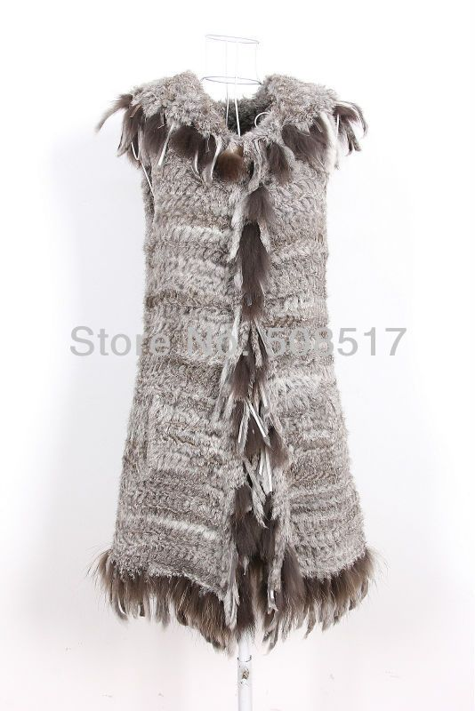 Winter Coat Ladies Top Fashion Knitted Rabbit Fur Vest With Hood Female Clothes Casual Real Fur Coat For Girls Women Vest 2014