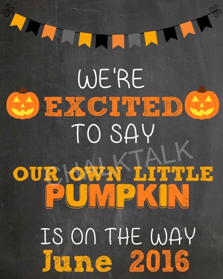 Halloween Pregnancy Announcement Chalkboard - Fall Pregnancy Chalkboard - Halloween - Photo Prop - October - November by ChalkTalkDesigns on Etsy https://www.etsy.com/listing/242857402/halloween-pregnancy-announcement