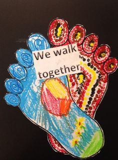 The 2015 theme is 'We all stand on sacred ground' and the poster features feet. This craft idea might provide a nice link and discussion point with the class.