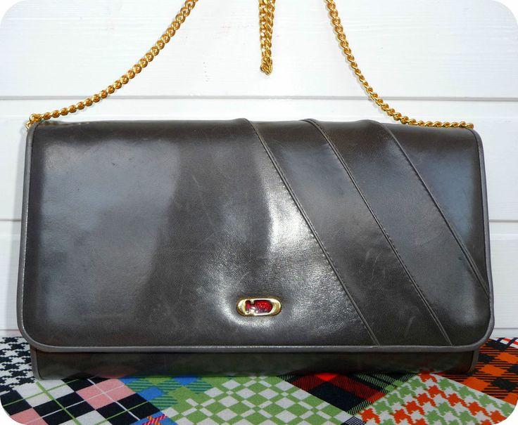 DUCALE Vintage Leder Tasche 80er Clutch Handtasche Leather Purse Schultertasche   Kleidung & Accessoires, Damentaschen   eBay!